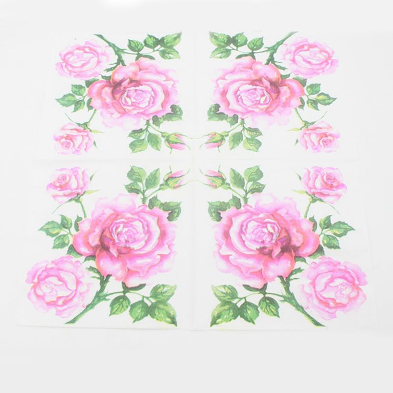 Us 2 ply printed flower paper napkins wedding party dinner napkin us 2 ply printed flower paper napkins wedding mightylinksfo